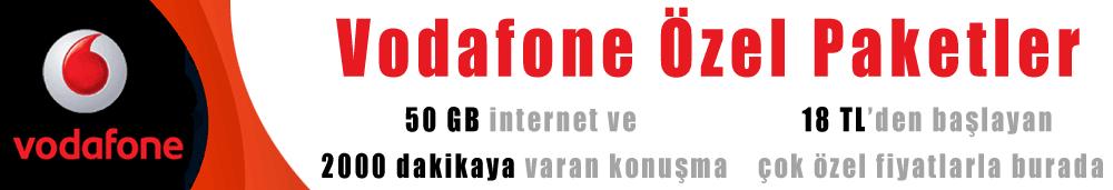 Vodafone özel paketler